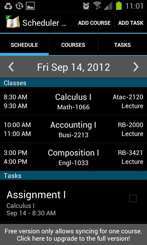 School Scheduler - Lite - screenshot