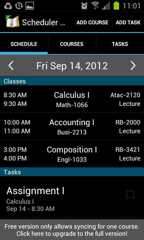 School Scheduler - Lite - screenshot