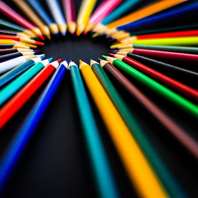 my colors circle by José M G Pereira - Artistic Objects Other Objects ( orange, colors, green, white, circle, pencil, red, blue, brown, pink, grey, black, pencils,  )