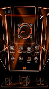 Bionic Launcher Theme Orange- screenshot thumbnail