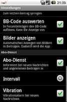 Screenshot of IBC-Forum