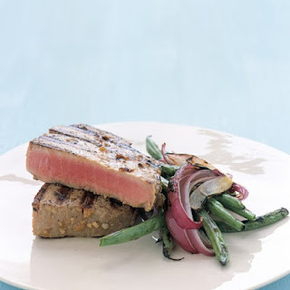 Grilled Tuna Steaks with Japanese Marinade.