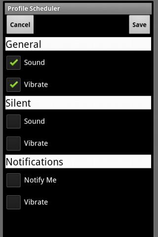 Profile Scheduler - screenshot