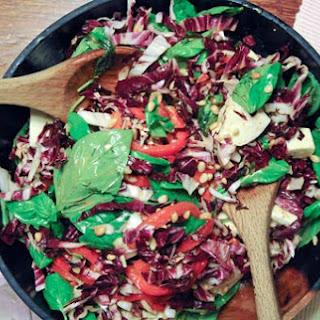 Mozzarella and Basil Salad with Tomato Vinaigrette