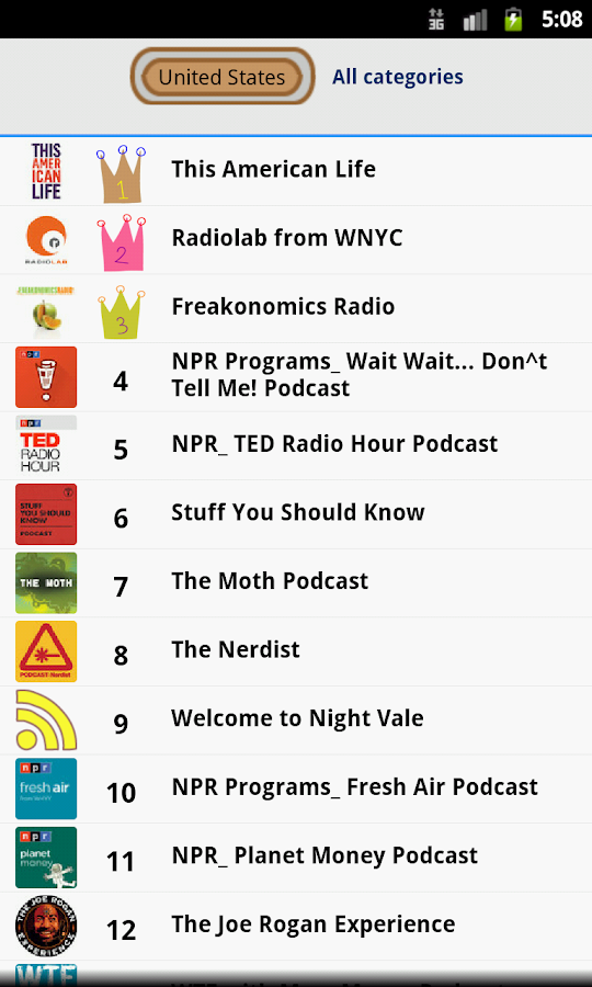 Ratpoison Podcast player - screenshot