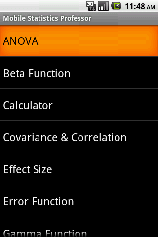 Mobile Statistics Professor- screenshot
