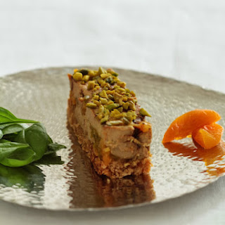 Marbled Foie Gras with Pistachios, Apricots, and Gingerbread.