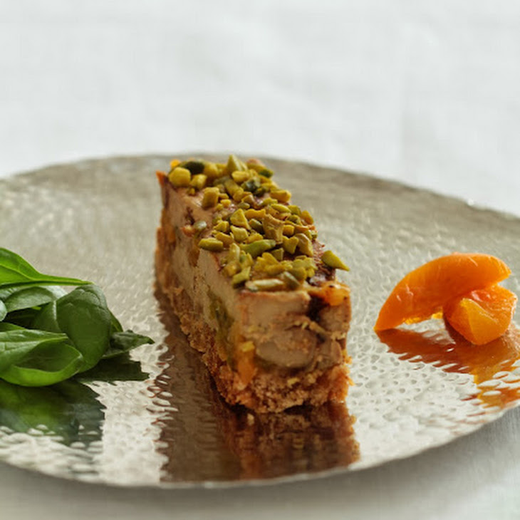 Marbled Foie Gras with Pistachios, Apricots, and Gingerbread Recipe