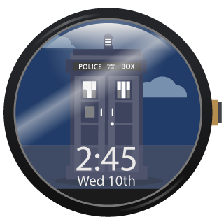 Time and Space Watch Face