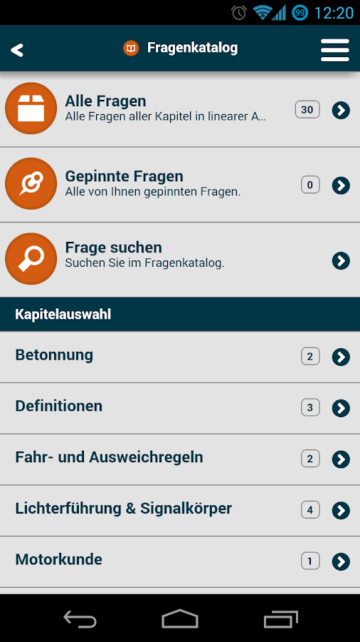 SBF-Fragen | See, Binnen, Funk- screenshot