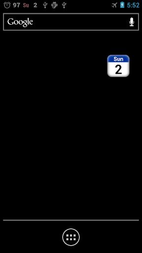 日期及星期顯示日曆組件