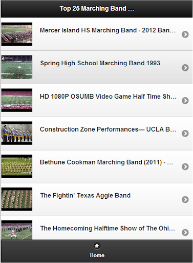 Top 25 Marching Band Videos