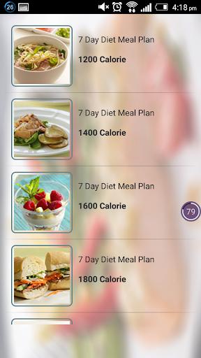 Diet in week