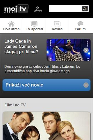 Moj TV Slovenija- screenshot