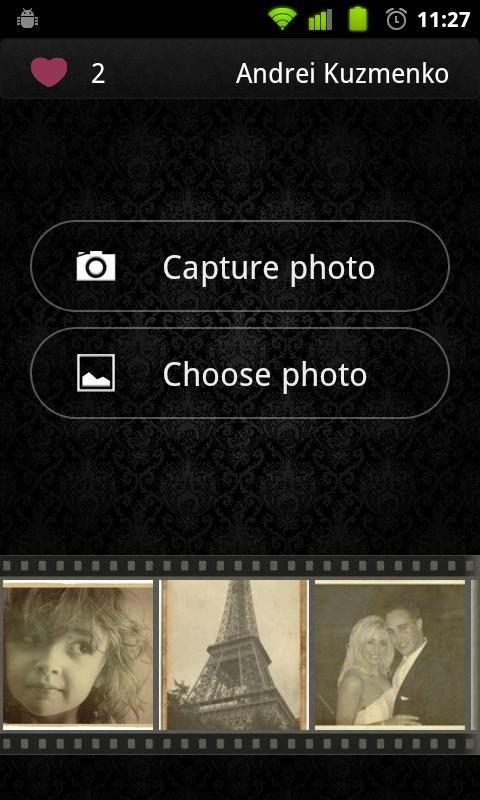 Vintage Photofram.es - screenshot