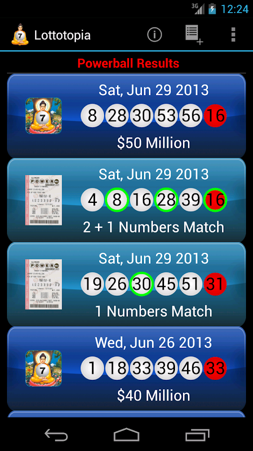 Lottery Results Ticket Checker- screenshot