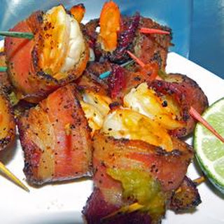 Garlic Lime Bacon-Wrapped Shrimp