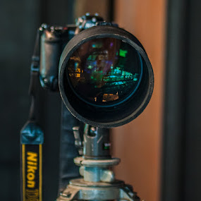 Nikon Pod by Bob Barrett - Artistic Objects Technology Objects ( camera, digital photography, tripod, nikon, lens, dslr, object )