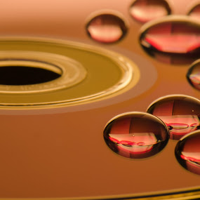 Drops... by Gerd Moors - Abstract Water Drops & Splashes ( abstract, water, tone, reflection, macro, color, droplet, drop, cd,  )