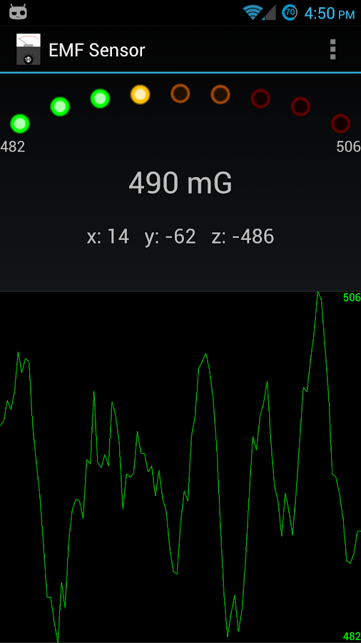 EMF Sensor - screenshot