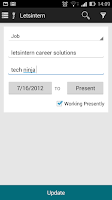Screenshot of Letsintern: Internships on tap