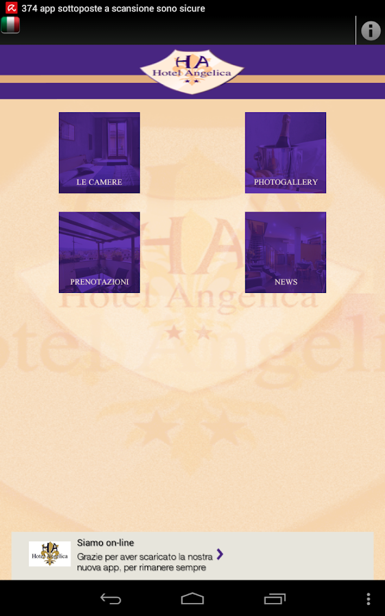Hotel Angelica Firenze- screenshot
