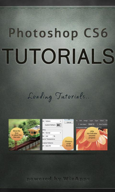 Tutorials for Photoshop CS6- screenshot