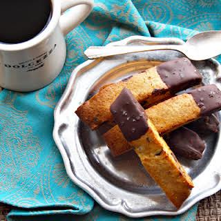 Dark Chocolate Honey-Almond Biscotti.