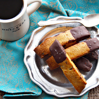 Dark Chocolate Honey-Almond Biscotti.