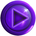 poweramp skin black purple CL