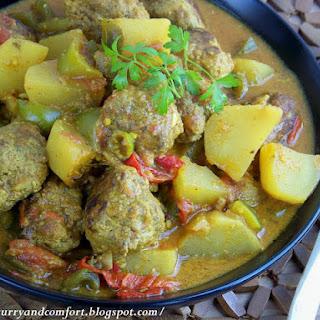 Meatball and Potato Curry.