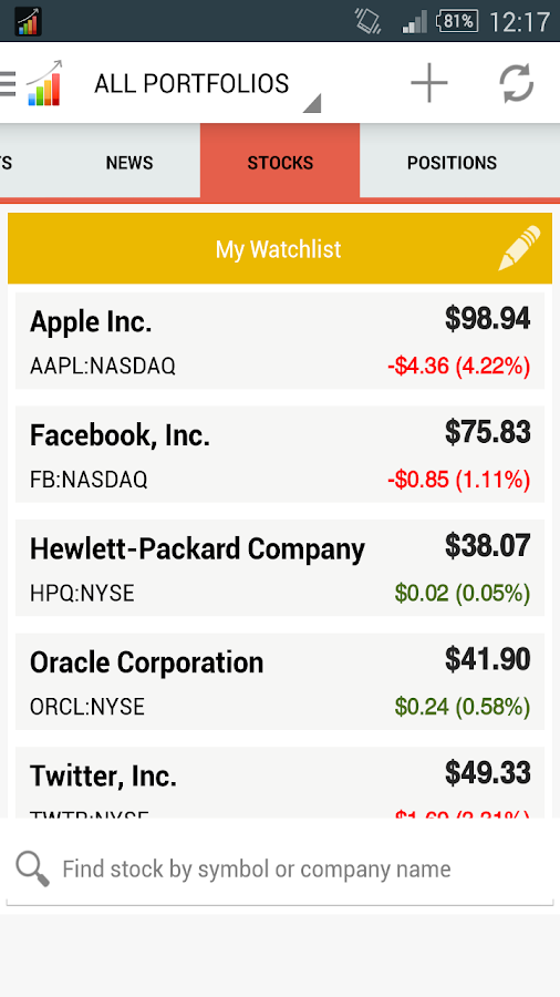 Stocks IQ - Stock Tracker - screenshot