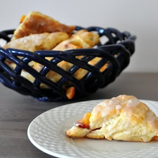 Mini Glazed Peach Scones.