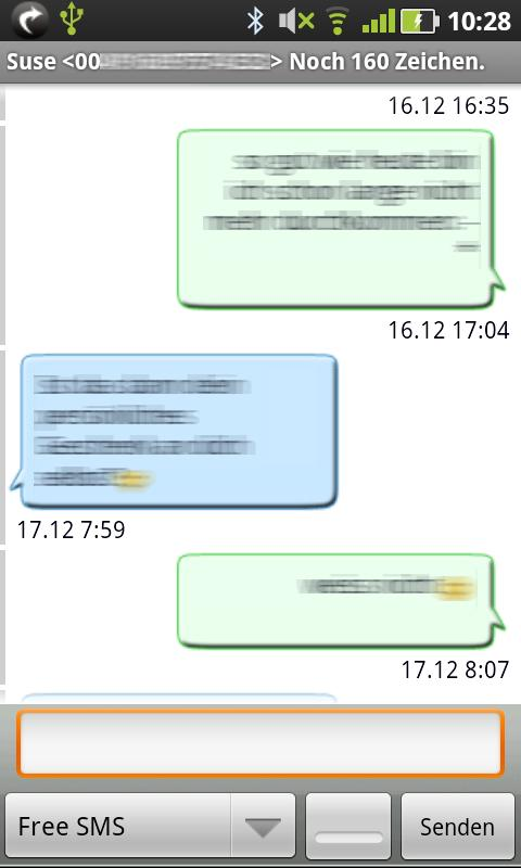 Gschickt FREE (Messaging)- screenshot