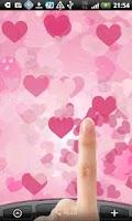 Screenshot of LOVEピンクハートの壁紙