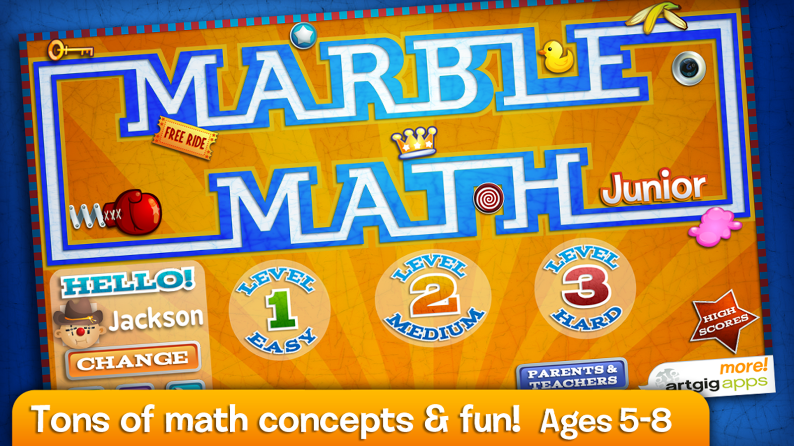 Marble Math Junior- screenshot