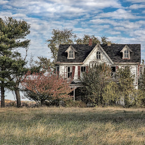 Beyond Repair - Abandoned Dream by Deborah Felmey - Buildings & Architecture Homes ( disrepair, farm, house, homestead, abandoned,  )