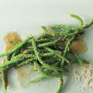 Ginger Garlic Green Beans.