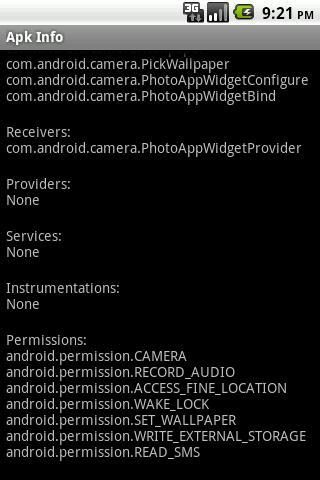 Apk Info OS 1.3 free - screenshot