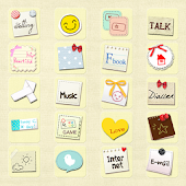 CUKI Theme Cute Note Icon