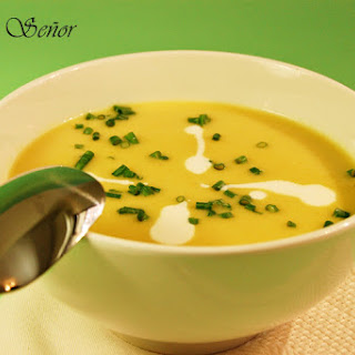 Curried Cream of Leek Soup.