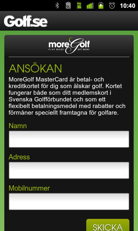 Golfguiden - screenshot