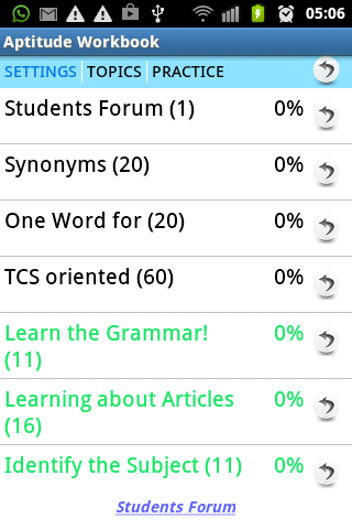 Students Forum Aptitude Test