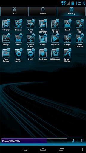 【免費個人化App】Serenity Launcher Theme Cyan-APP點子