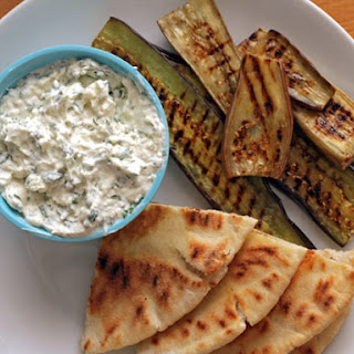 Nigel Slater's Grilled Eggplant with Creamed Feta.
