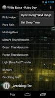 Screenshot of White Noise - Rainy Day