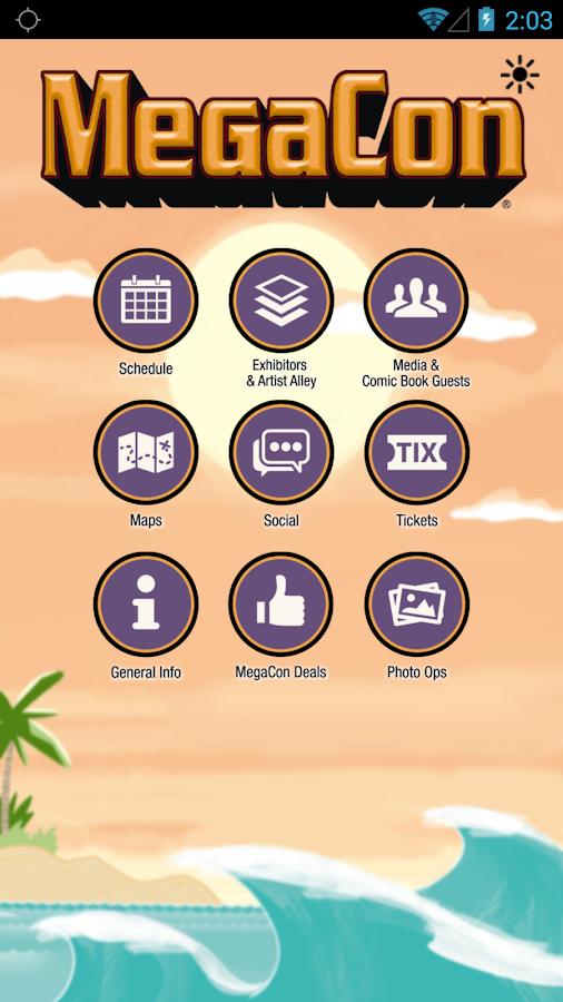 Official MegaCon App- screenshot