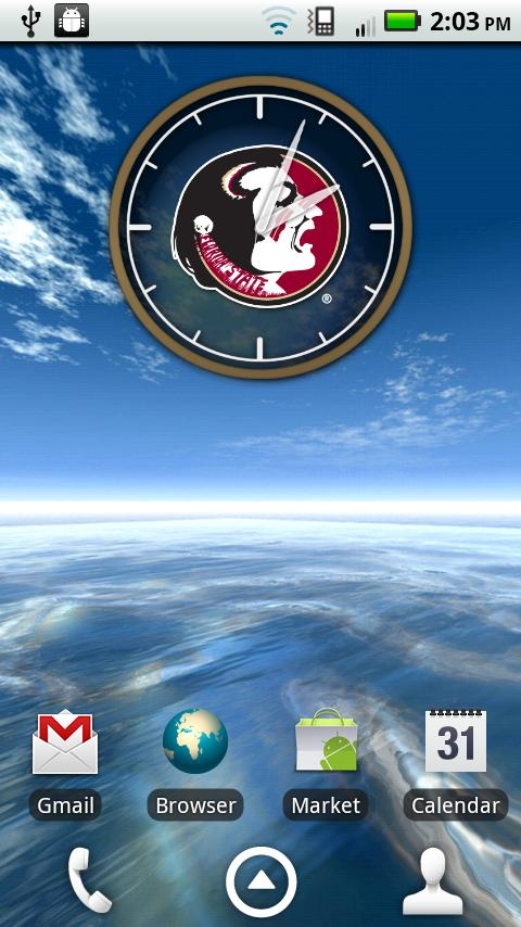 Florida State Seminoles Clock - screenshot
