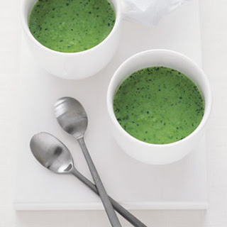 Chilled Sweet Pea and Watercress Soup.