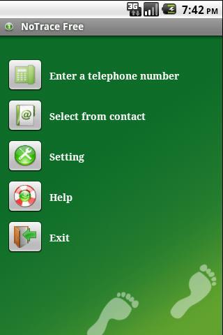 NoTrace Free - screenshot